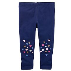 Girls 4-8 Carter's Glitter Hearts Knee Leggings