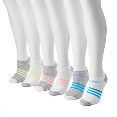 Women's adidas 6 pkColored Mini Striped Graphic Socks