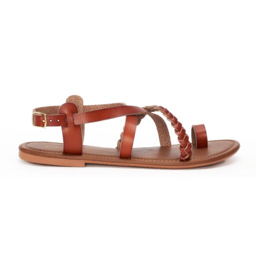 Women's SONOMA Goods for Life™ Strappy Braided Toe Loop Sandals