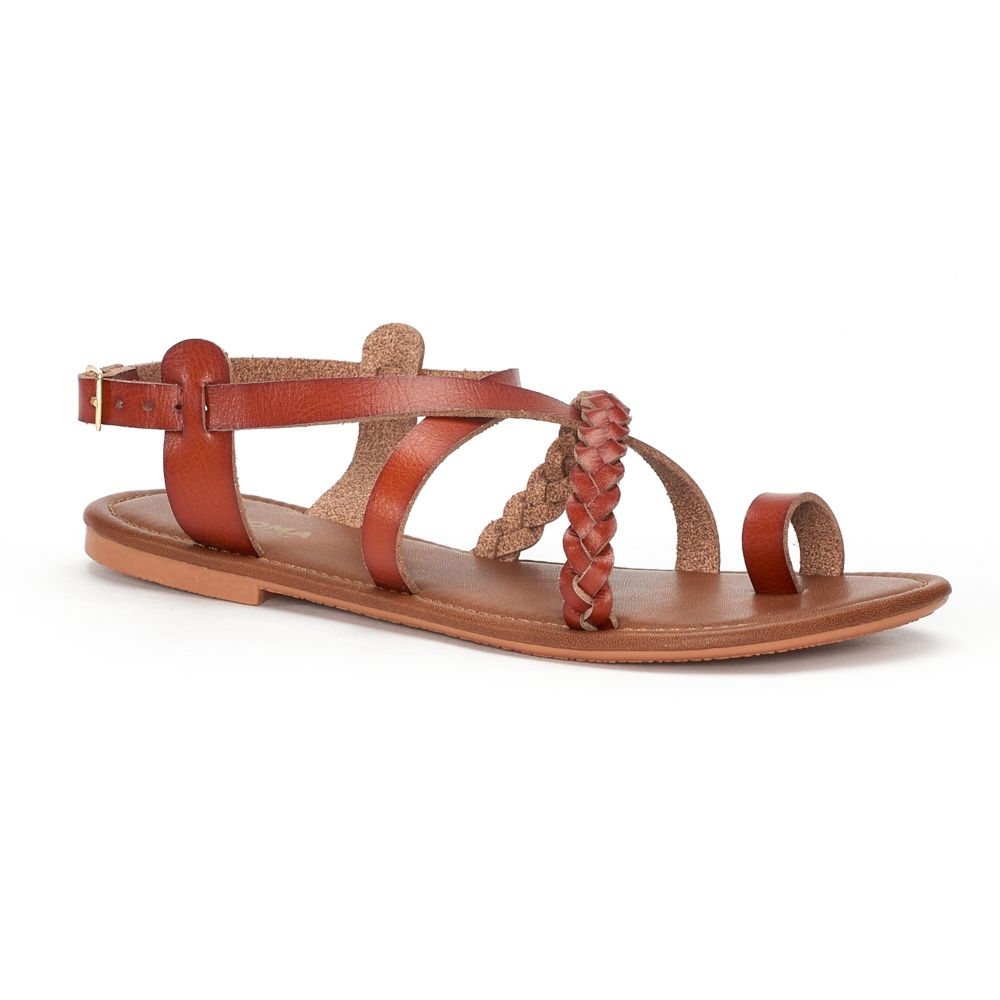 Women's SONOMA Goods for Life™ ... Strappy Braided Toe Loop Sandals