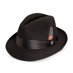 Men s Stacy Adams Wool Felt Pinched-Front Fedora 5982a9bee4a