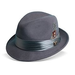 Men's Stacy Adams Wool Felt Fedora With Feather