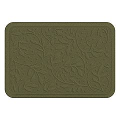 Bungalow Flooring Heavenly Wisteria Leaf Indoor Outdoor Comfort Mat