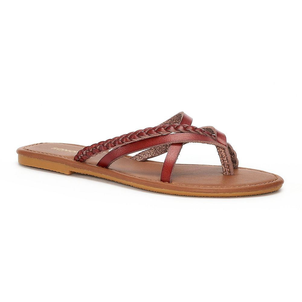 Women's SONOMA Goods for Life™ ... Braided Multi Strap Sandals GlH3L0Mo8