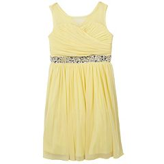 Girls 7-16 Speechless Surplice Bodice Rhinestone Dress