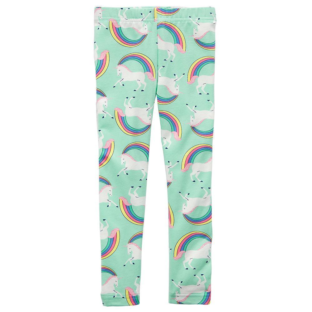 d10786ceab540 Girls 4-8 Carter's Rainbow Unicorn Leggings