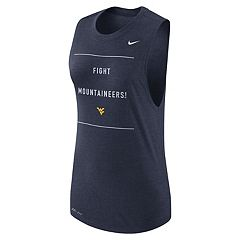 Women's Nike West Virginia Mountaineers Dri-FIT Muscle Tank Top