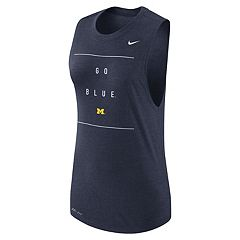 Women's Nike Michigan Wolverines Dri-FIT Muscle Tank Top