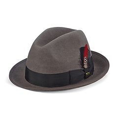 Men's Scala Wool Felt Fedora With Feather