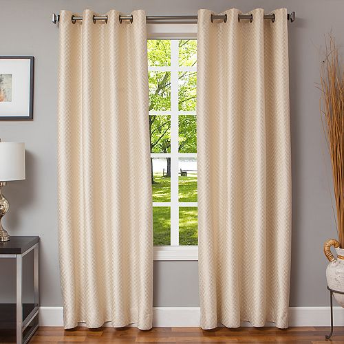 Softline 1-Panel Morena Chevron Window Curtain