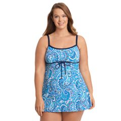 Plus Size Upstream Thigh Minimizer Empire Swimdress