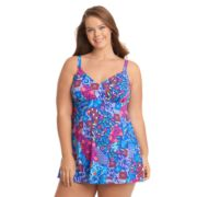Plus Size Upstream Thigh Minimizer Swimdress