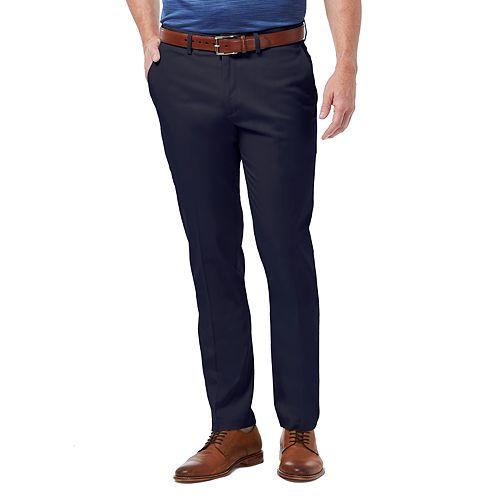 Big & Tall Haggar Premium No-Iron Khaki Stretch Slim-Fit Flat-Front Pants