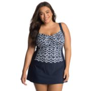 Plus Size Upstream Hip Minimizer Skater Swimdress