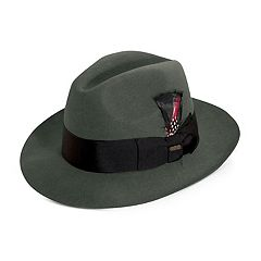 Men's Scala Grosgrain Wool Felt Fedora