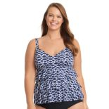 Plus Size Upstream Tiered Empire Tankini Top