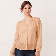 Women's LC Lauren Conrad Pintuck Blouse