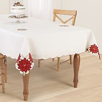 St. Nicholas Square® Poinsettia Cutout Tablecloth