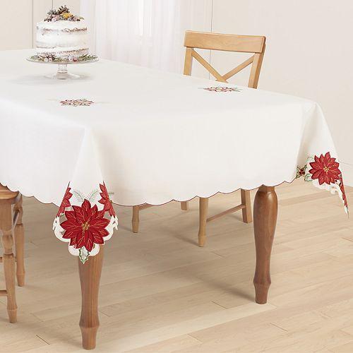 St. Nicholas Square® Poinsettia Cutout Tablecloth