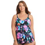 Plus Size Upstream Empire Underwire Tankini Top