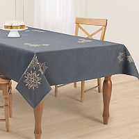 St. Nicholas Square® Snowflake Embroidered Tablecloth