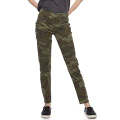 Juniors' Tinseltown Camo Motorcycle Skinny Pants