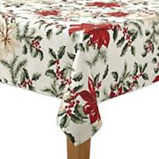 The Big One® Poinsettia Print Tablecloth