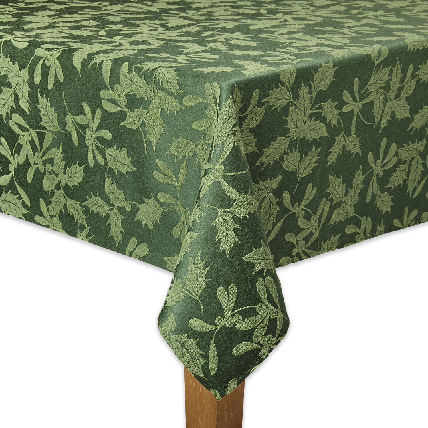 The Big One® Green Holly Tablecloth