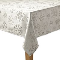 The Big One® Silver Snowflake Tablecloth