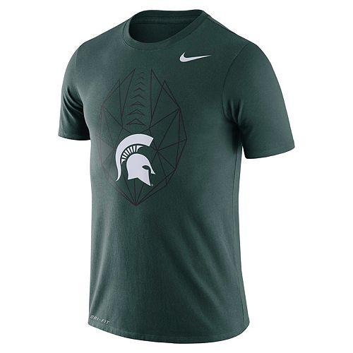 Men's Nike Michigan State Spartans Football Icon Tee