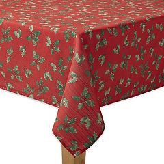 St. Nicholas Square® Botanical Holly Tablecloth