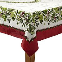St. Nicholas Square® Holly Pine Border Tablecloth