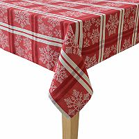 St. Nicholas Square® Red Snowflake Tablecloth