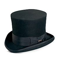 Men's Scala Wool Felt Top Hat