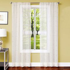 Softline 1-Panel Sabrina Medallion Window Curtain