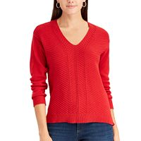 Women's Chaps Chevron V-Neck Sweater