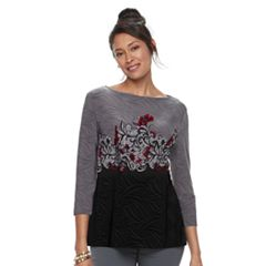 Women's Croft & Barrow® Ballet Neck Top