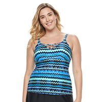 Plus Size Croft & Barrow® Lace-Up Tankini Top