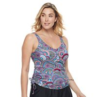 Plus Size Croft & Barrow® Medallion Tankini Top
