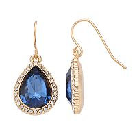 Chaps Halo Nickel Free Teardrop Earrings