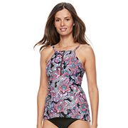 Women's Croft & Barrow® High-Neck Tankini Top