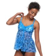 Women's Croft & Barrow® Mesh Flyaway Tankini Top