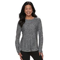 Women's Croft & Barrow® Marled Crewneck Sweater