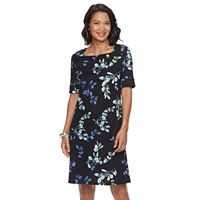 Women's Croft & Barrow® Print Squareneck Sheath Dress