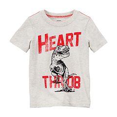 Boys 4-8 Carter's Dinosaur 'Heart Throb' Short Sleeve Graphic Tee