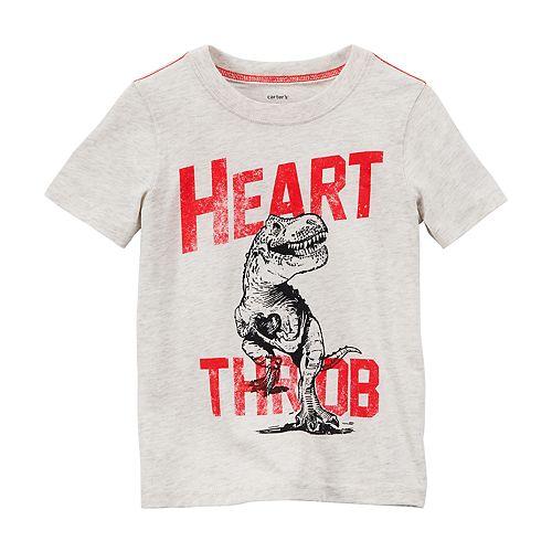 """Boys 4-8 Carter's Dinosaur """"Heart Throb"""" Short Sleeve Graphic Tee"""