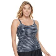 Plus Size Croft & Barrow® D-Cup Tankini Top