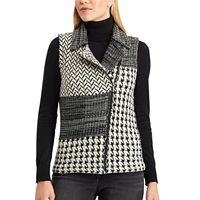 Petite Chaps Buffalo Plaid Sweater Vest