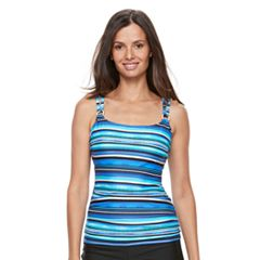 Women's Croft & Barrow® D-Cup Tankini Top