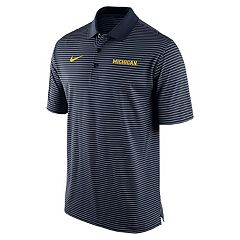 Men's Nike Michigan Wolverines Striped Stadium Dri-FIT Performance Polo